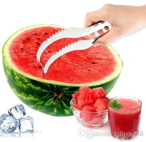 Stainless Steel Watermelon Slicer Cutter Knife Corer Melon Fruit Vegetable Cutter Kitchen Accessories Environmentally safe use