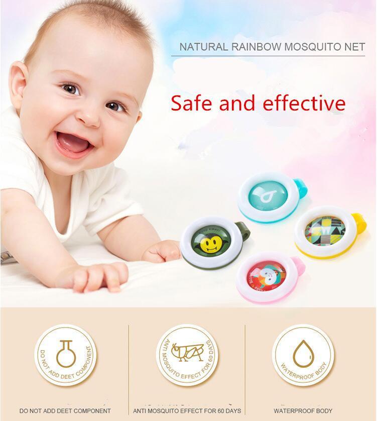 Mückenschutz-Abzeichen-Knopf Buckle-Karikatur-nette Anti-Moskito-Insekt-Wanzen-Repellent Clip Buckle für Baby-Moskito-Repellent-Knopf