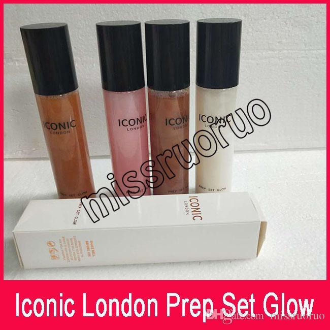 Yeni İkonik Londra Hazırlık Set Glow Ayar Sprey Uzun ömürlü fosforlu bronz ml 4 renkler ücretsiz kargo
