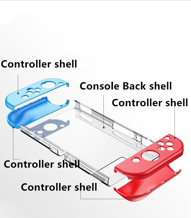Nintend 2020 Ultra Slim Protezione interruttore Case Cover Dockable magnetica Shell di cristallo posteriore della console per Nintendo