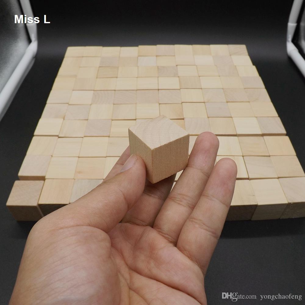 100 قطع كتل الخشب مكعب كومة يصل الجدول لعبة الكبار الطفل كيد ألعاب الذكاء التفاعلية 2.5 سنتيمتر