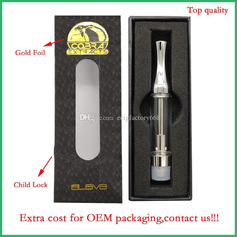 510 Pen Vape vazio ouro Logo cartuchos OEM Embalagens personalizadas 92A3 recarregáveis vidro bobina de cerâmica atomizador wickless óleo espesso caneta vaporizador