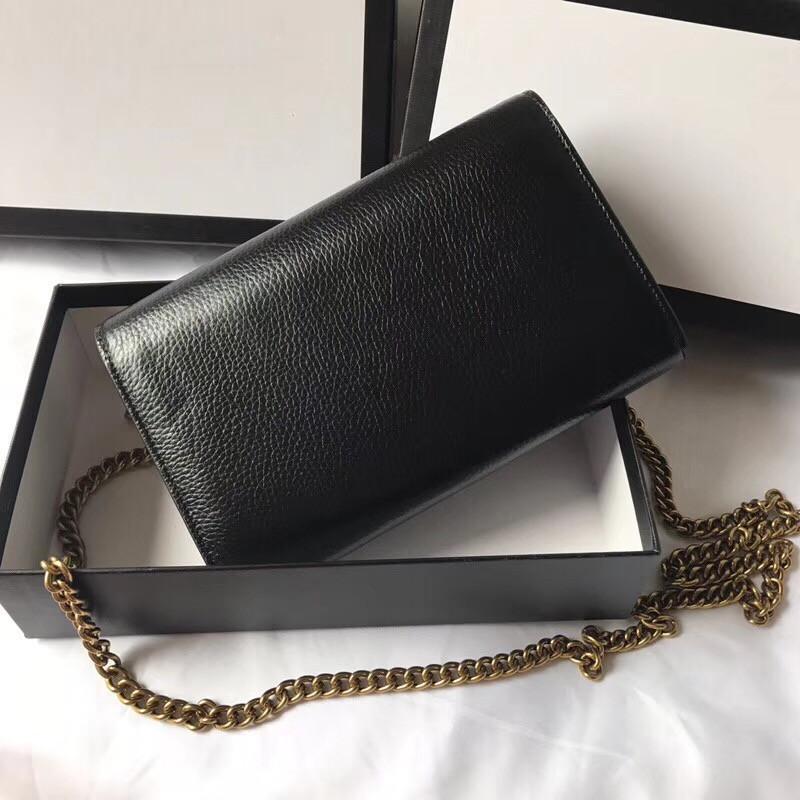 bandolera llanura cuero genuino del estilo clásico de diseño para las mujeres buen precio envío de la gota