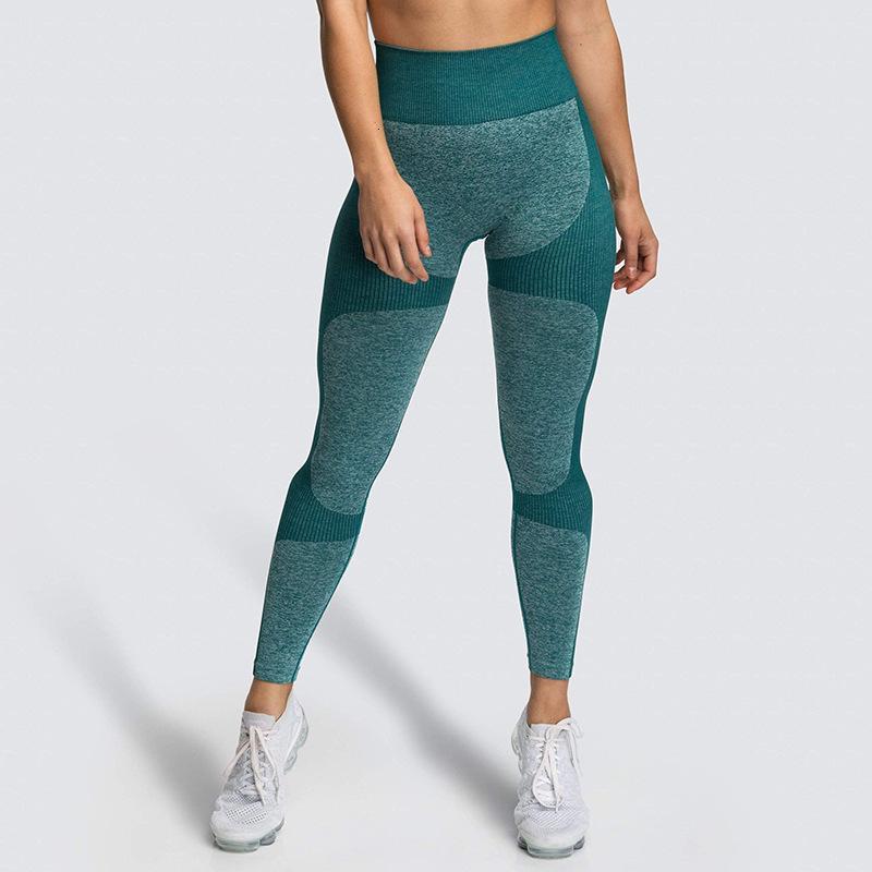 Pantalones aptitud de marca _ pantalones de la yoga sin fisuras Gao cintura caderas atractivas de ejercicio físico para deportes pantalones apretados