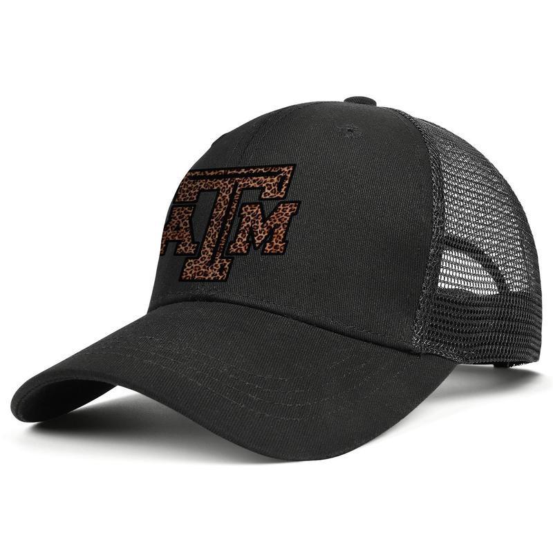 Texas AM Aggies футбольный логотип черный мужской и женский trucker cap ball стили приспособленный дизайн ваши собственные сетчатые шляпы сетка Мраморная печать старые США