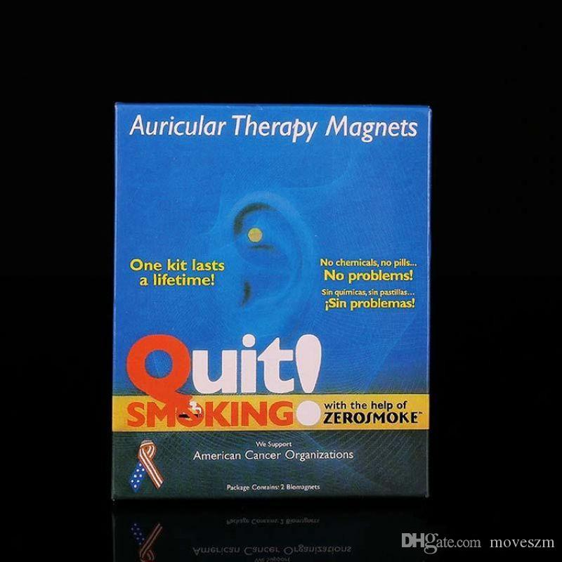 Новые Терапевтический магнит Аурикула Бросить курить Zerosmoke ACUPRESSURE Patch Stop Курение Массажер для уха Нет сигарет Здравоохранение