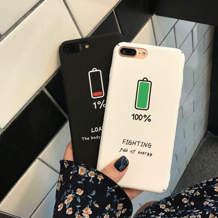 poder ícone para iPhone x / xsmax / telefone xr caso iPhone6s / 7plus / 8 personalidade fosco