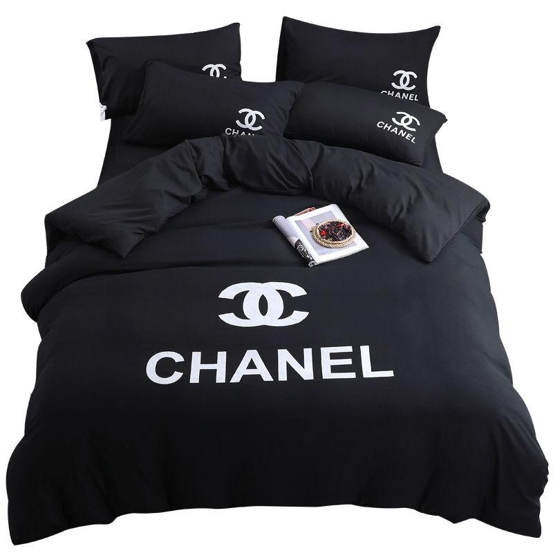 Chic Branded Cotton Bedding Supplies Bedding Sets Letter Print Duvet Cover Quilt Cover Pillowcase Brief Bedclothes