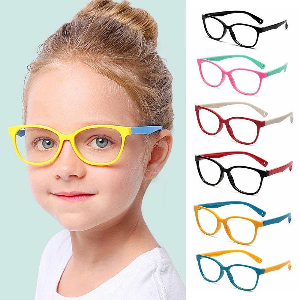 New Children Glasses Frame Anti-blue Rays Glasses Soft Silicone Frame Children Flexible Protective Computer Goggles Eyeglasses
