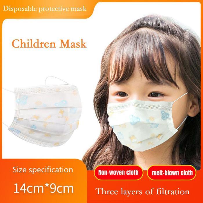 Trois couches enfants à usage unique Masque anti-pollution bleu et Imprimer Masque Visage Bouche enfants meltblown filtre anti-poussière Masque DHL gratuit