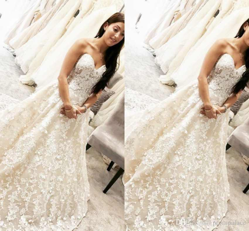 Real Photos Lace Wedding Dresses Sheer A-Line Actual Image Bridal Gowns Modest Princess Dresses For Bride