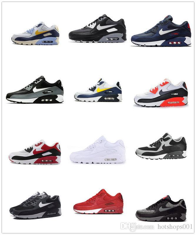 donne Air Max 90 uomini Essential autentici originali di scarpe da corsa traspirante Sport Outdoor scarpe da tennis di nuovo arrivo