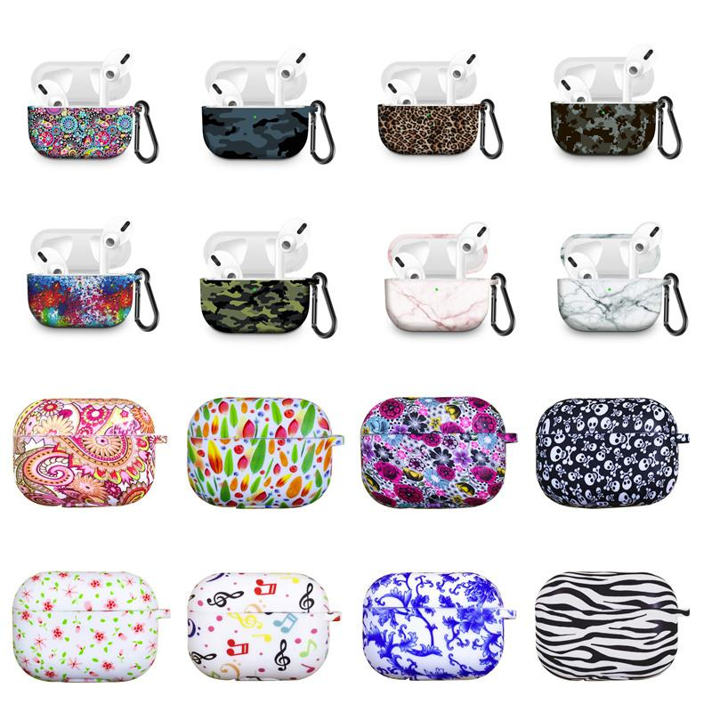 New Printing Silicon Earphone Bag for Apple Airpods Pro TPU Anti-lost Case Cover for Airpods3 Charging Box Cases Protector Accessories