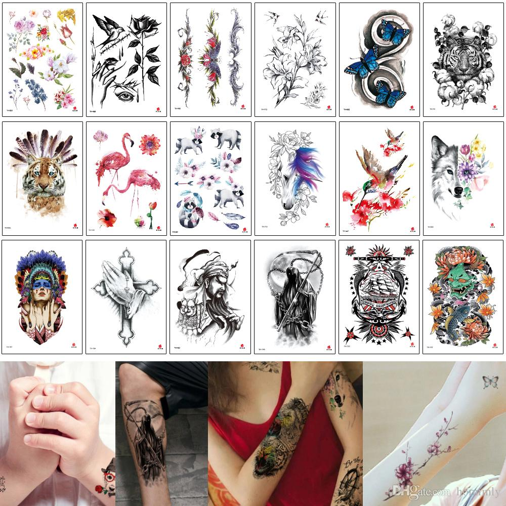 14.8x21cm TH Series Temporary Tattoo Stickers Body Art Painting Waterproof Decal Paper for Women and Men 3D Body Small Fairy Tattoos Designs
