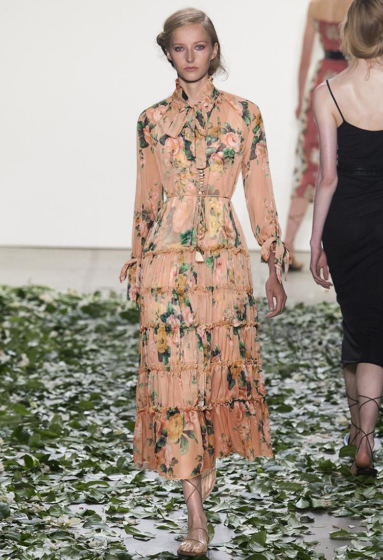 High end customized Aussie fashion brand new goddess silk print elegant temperament lace up waist elegant long skirt