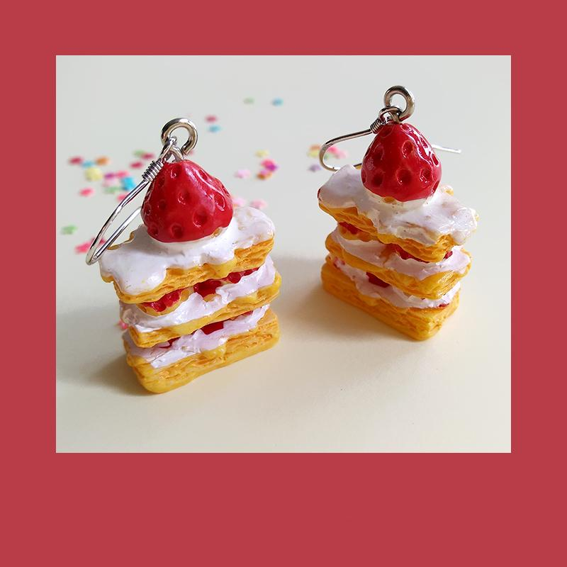 Bella Interessante Dessert torta orecchini ragazze ornamenti decorativi 2020 divertente degli orecchini di ornamenti per il vestito femminile