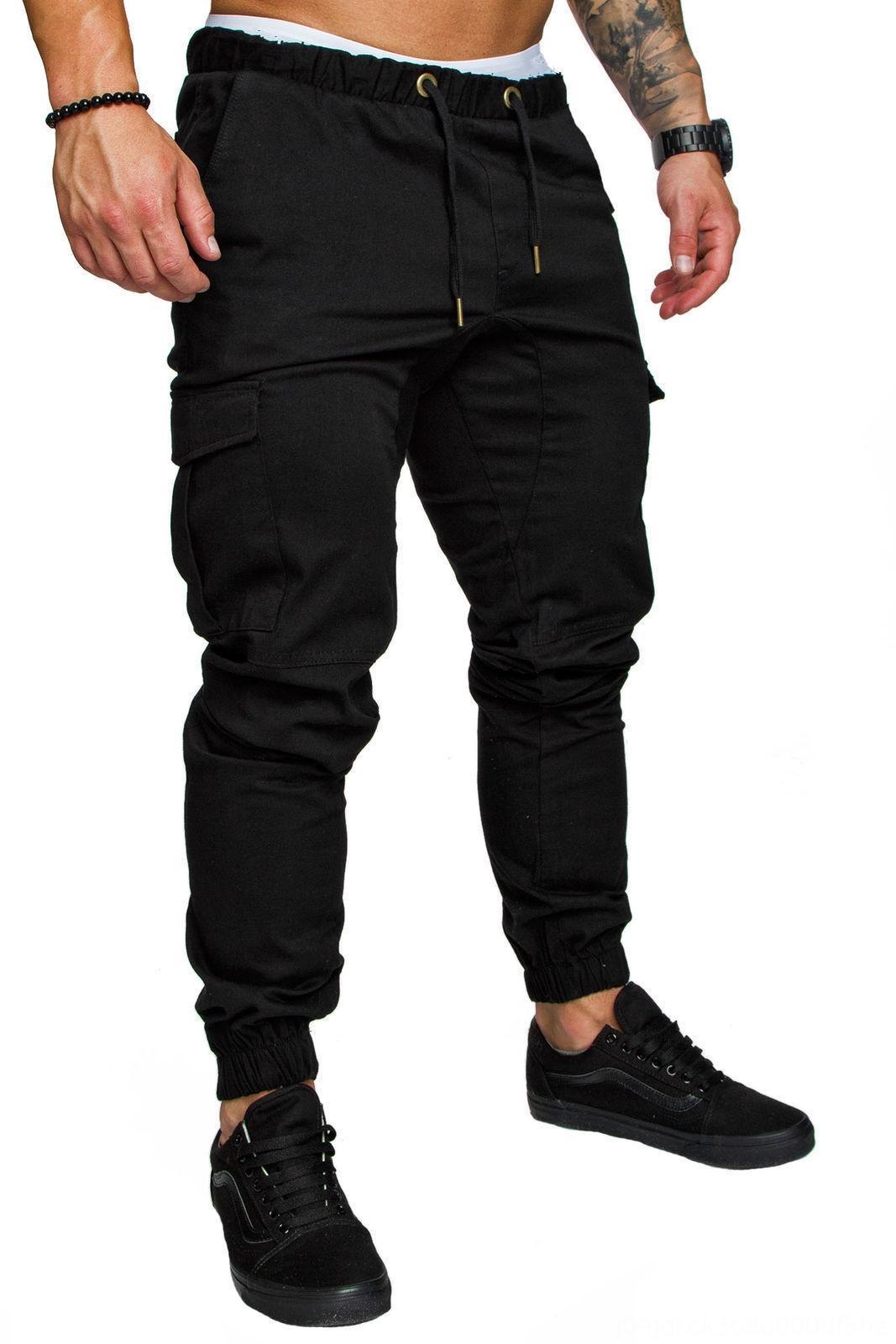 MRMT 2019 Yepyeni Erkek Pantolonları Erkek Katı Renk Pantolon için Casual Erkek Erkek Giyim Moda Elastik Pantolon Urgan Pantolon
