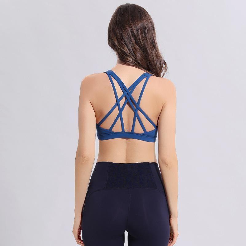 LU-50 Kadınlar Spor Bra Gömlek Yoga Salonu Yelek Shakeproof Ayarlanabilir Kayış Sütyen Push Up Spor Seksi İç Giyim Lady Tops