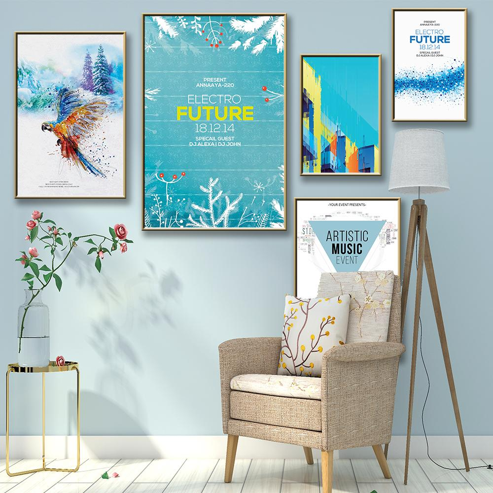 Exquisite Electro Future Nordic Posters And Prints Wall Art Canvas Painting Picture Wall Poster Living Room Bedroom Decoration