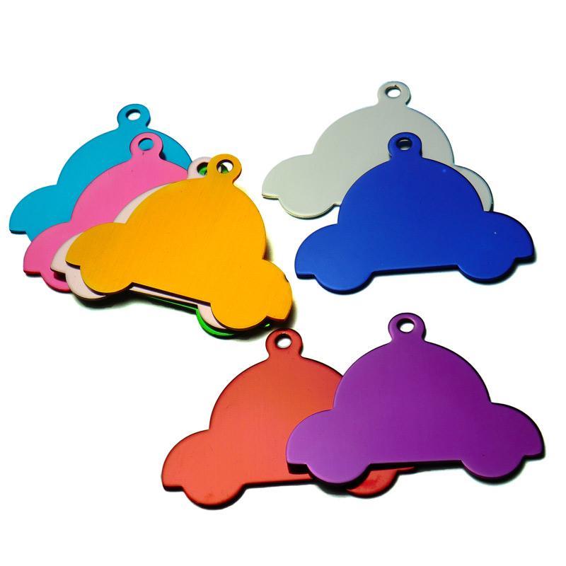 KIYUE 20 pcs Nome Personalizado Pet ID Tags DIY Gravura Cão ID Tag Alumínio Car Pet Tags para Cão suprimentos Personalizado Colarinho