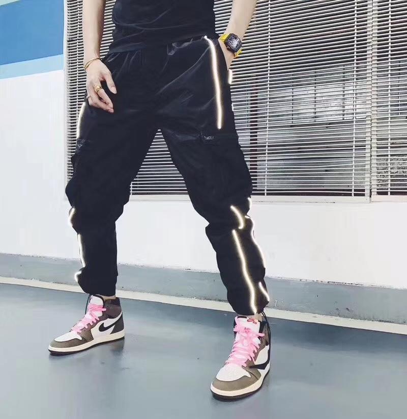 мужчины случайных штаны спортивных штанов дизайна одежды брюки брюки для мужчин Удобного размера M-2XL Двойного стиля полосы