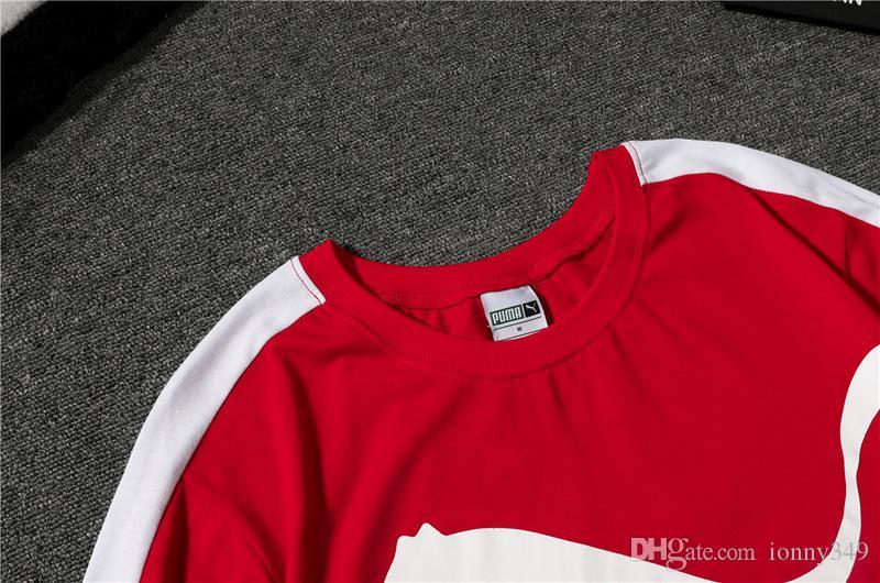 Compre Nueva Moda De Verano Nueva NOCasual Estilo De Los Hombres PUMA Ronda Cuello Manga Corta Camiseta De Algodón Para Hombre De La Cara Tee Shirts