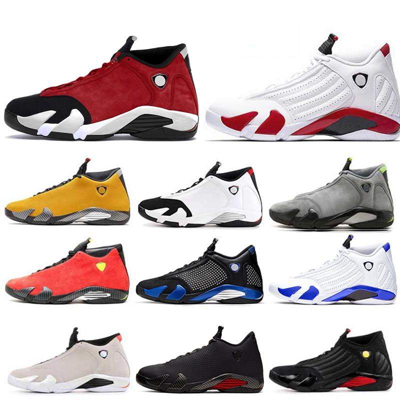 MEN 14 14s Mens basketball shoes black toe Gym red candy cane Hyper Loyel Varsity Royal desert sand mens sport shoes Trainers sneakers