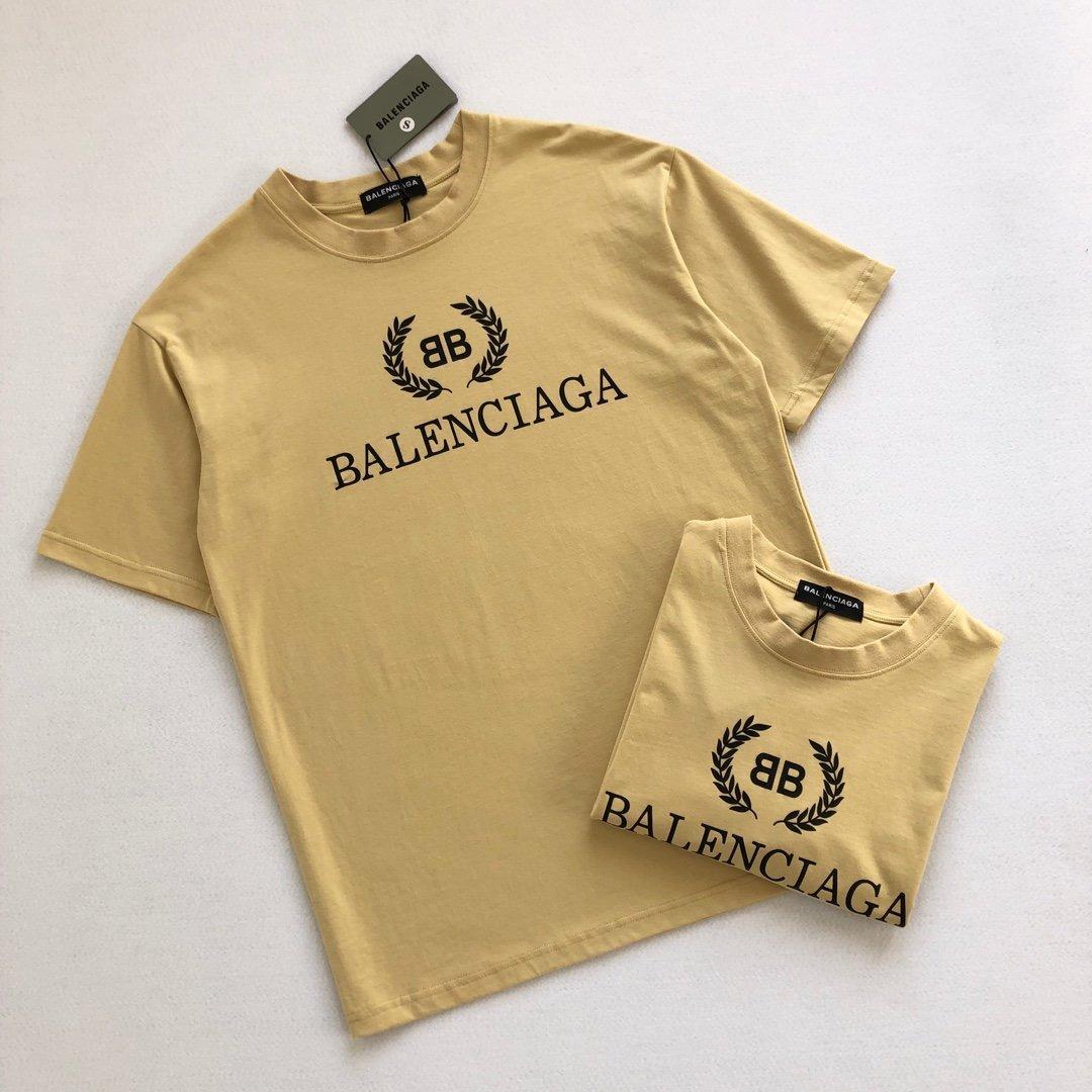 2020 Europäische und amerikanische Mode neuesten Stil T-Shirt Männer Designer hochwertige Buchstabedrucken atmungsaktive Baumwolle Top-lässige beige T-Shirt