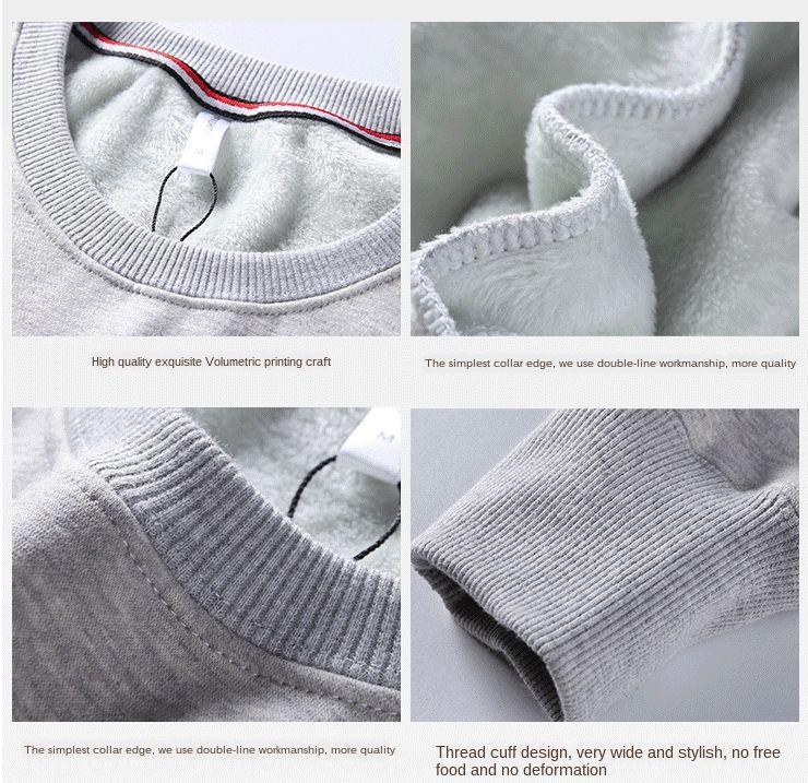 impresión 4QyWG espesó la impresión personalizada de publicidad suelta de algodón espesado flojo suéter con capucha Sudadera con capucha de algodón de publicidad cu