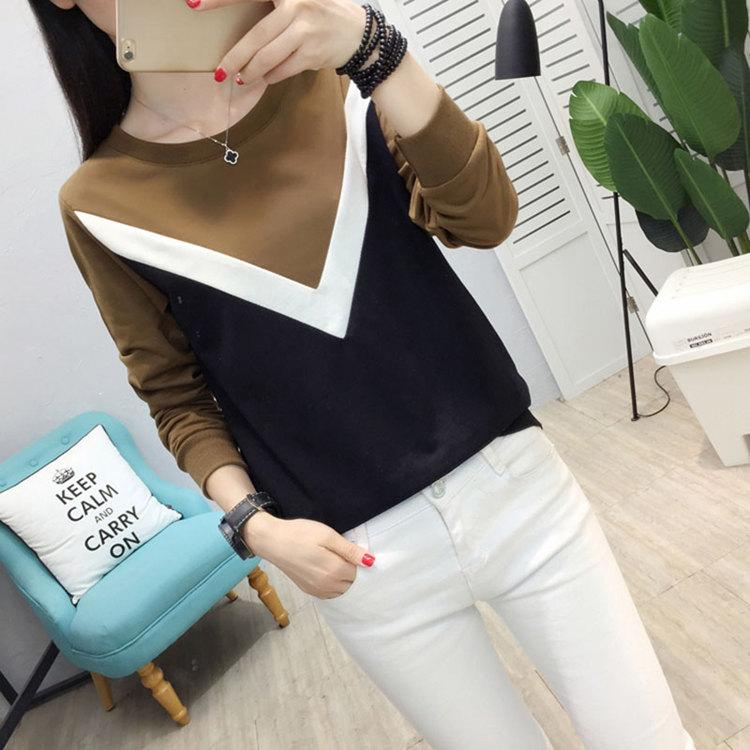 Plus Size Tshirt Women Fashion Long Sleeve T-shirt Women Tops Casual Camiseta femme Patchwork Tshirts Women Poleras Mujer 2019 (7)