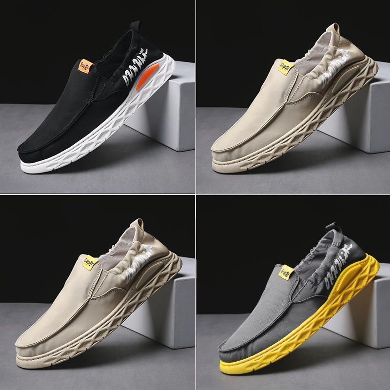 2019 летняя мужская парусиновая обувь дышащая ленивая летняя одна нога старая Пекинская ткань обувь ленивый крест досуг скольжения на обуви