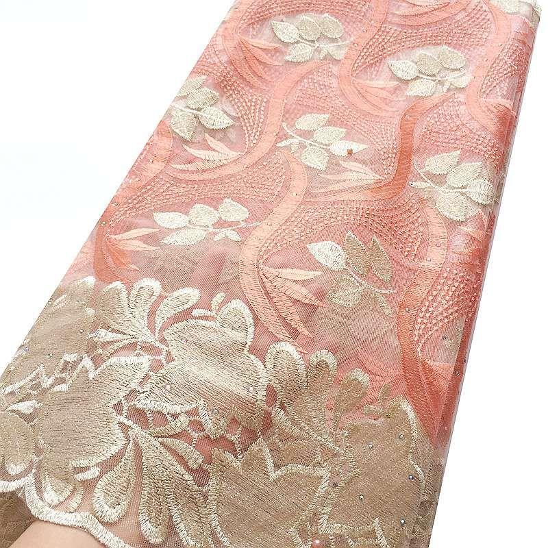 Африканский шнурок Ткань 2019 шнур высокого качества Нигерийской ткань шнурок венчание французского Тюль Чистой ткань шнурок для платья