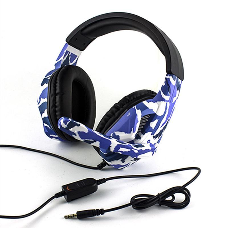 Камуфляж Stereo Deep Bass с микрофоном для PS4 компьютера Переключатель игры плеер Наушники Мобильный телефон гарнитуры Gaming Headset