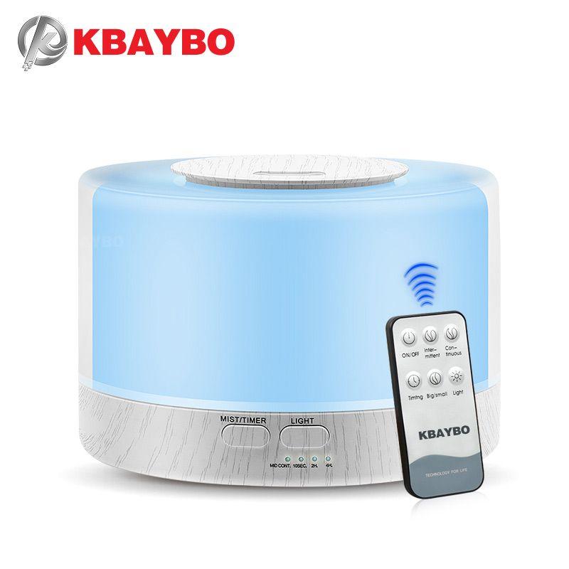 KBAYBO 700ml telecomando ad ultrasuoni Air Aroma umidificatore Con Colore 7 che cambia Olio Essenziale LED Lampada elettrica diffusore