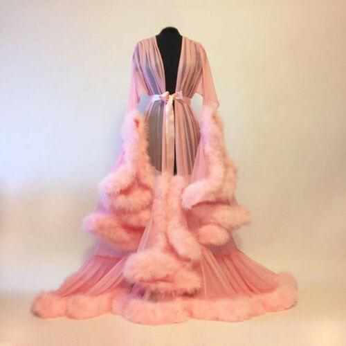 All'ingrosso-Womens Solid Lace Up allentato raso abito di seta del kimono Dressing manica abito da festa di nozze della damigella d'onore degli indumenti Gown completa NUOVO