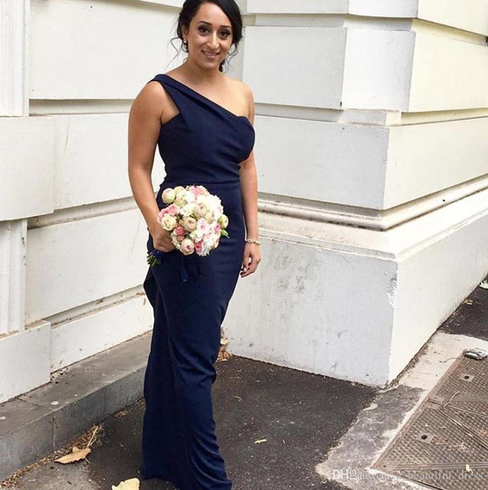Одно плечо платья подружки невесты без рукавов длиной до пола платье подружки невесты длинное платье выпускного вечера для свадебной вечеринки