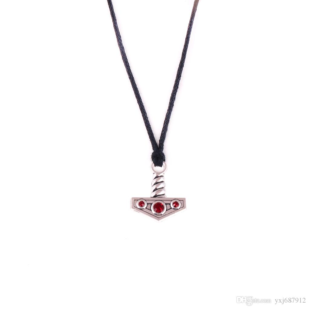 H4 European and American alloy small Raytheon hammer pendant woven necklace