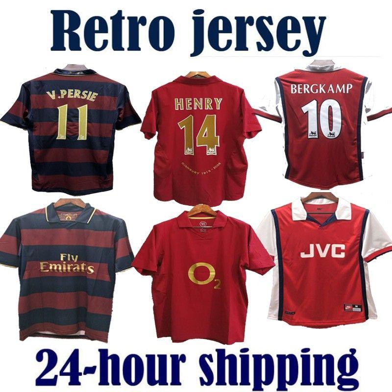 Arsenal Retro Gunners Soccer Jerseys Shirts PIRES HENRY V. Persie Fabregas Rosicky REYES VIEIRA BERGKAMP football 05 06 94 91 93 98 99 02 04 07 08