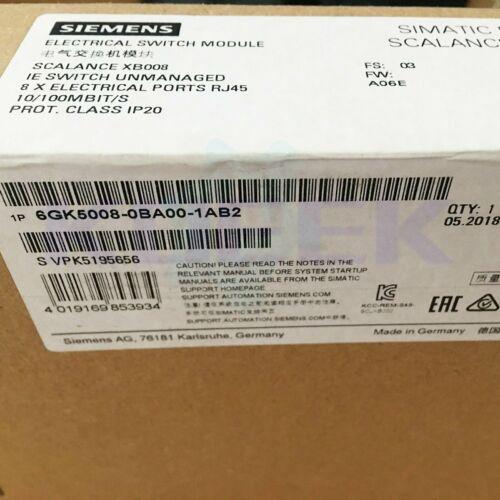 módulo de conmutación Siemens 1pc nueva 6GK5008-0BA00-1AB2 entrega rápida