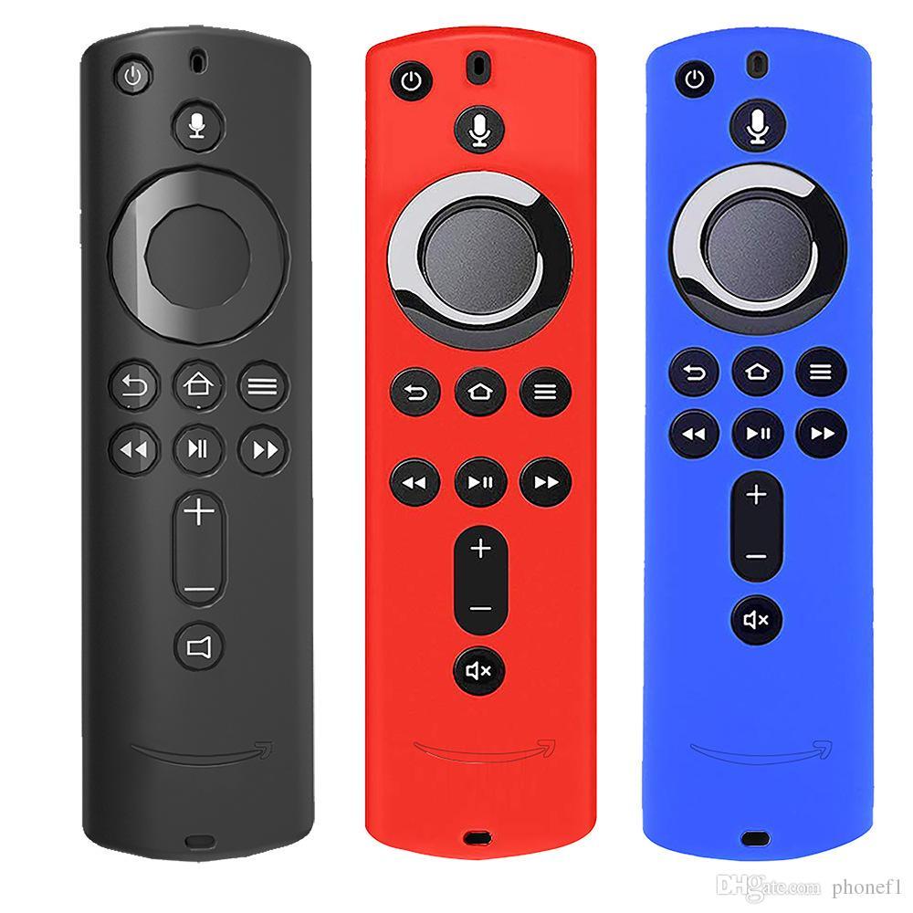 Silicone Case for Fire TV Vara 4K Fogo TV 3rd Generation Fogo TV Cube Remote Control antiderrapante Dustproof absorção de choque tampa protetora