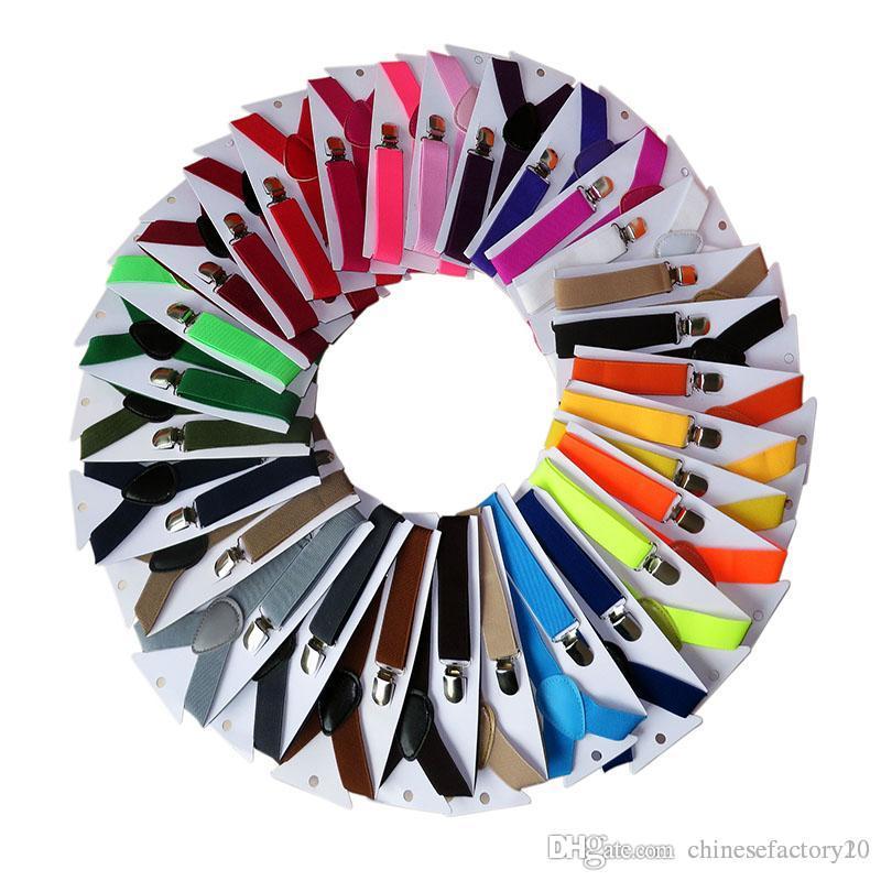 42 ألوان الأطفال كليب على Y مطاطا الحمالات الحمالات قابل للتعديل عيد الميلاد للأطفال بوي بنات أحزمة هدية