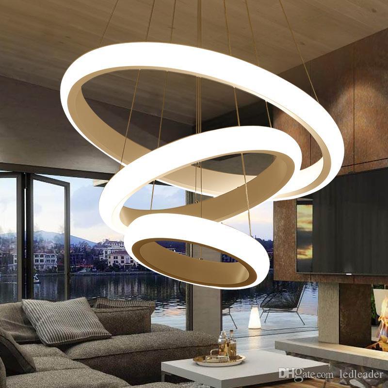 Moderno Led Lámpara de Cuerda Colgante Anillo Colgante de Luz Cocina Comedor Decoración Loft Iluminación para el Hogar Accesorios de Control Remoto Blanco 220V - Le38