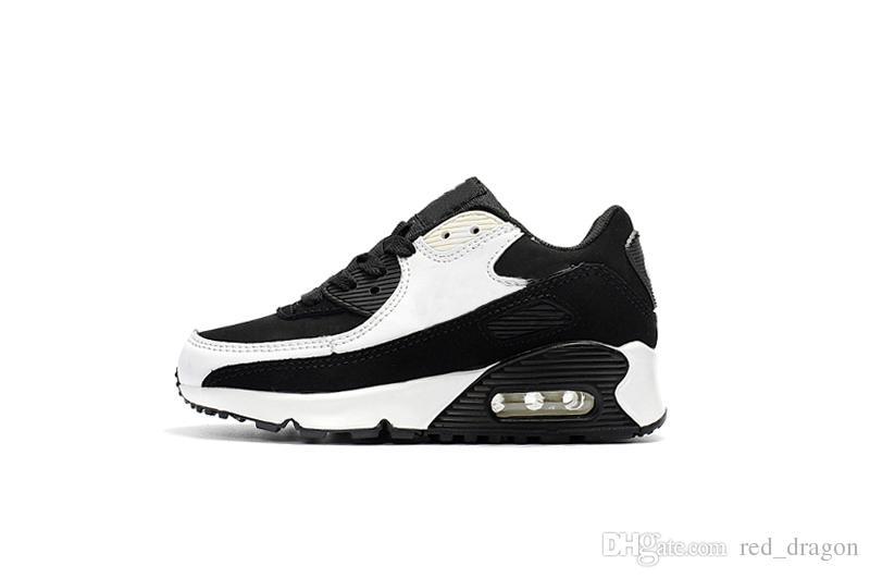 Acheter Nike Air Max 90 Vente Pas Cher Enfants Sneakers Presto 90 Chaussure Sports Enfants Chaussures Pour Enfants Baskets Infant Filles Garçons