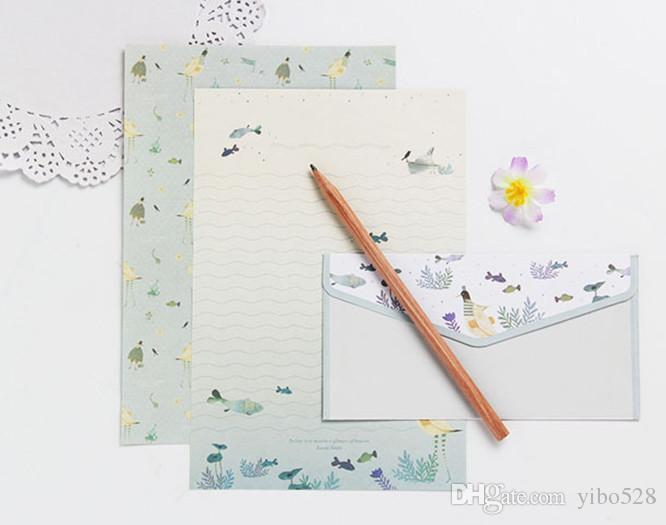 2019 Postcard Letter Stationery Paper Envelope Vintage Envelopes for Invitations Small Gifts Mini writing cute envelopes