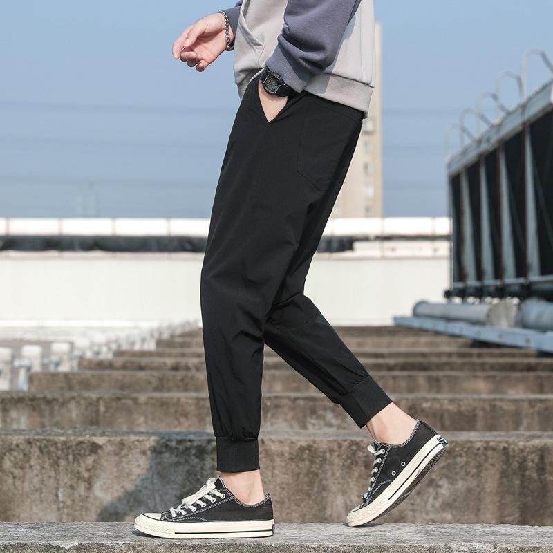 Trouse calças estilo coreano tendência Loose-Fit versáteis calças masculinas casuais 2019 New Style Estudantes Outono Viga Perna Harem de Homens