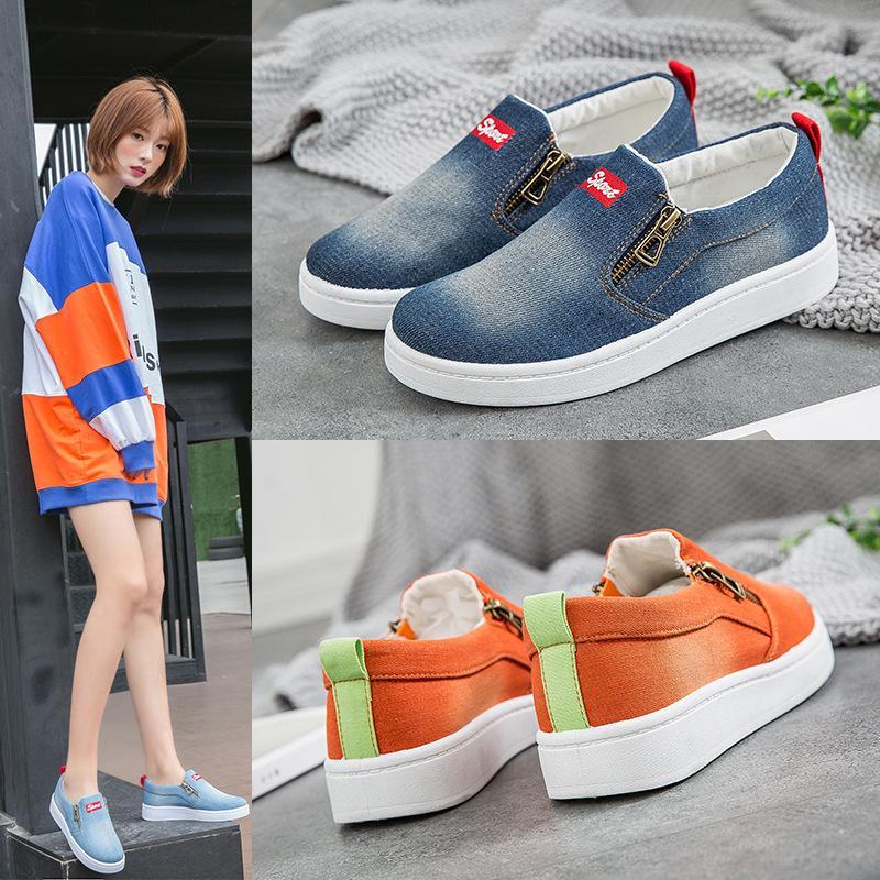 Mocassini Flat Big Fashion Moda Coreana Casual Canvas Unisex Dimensione scarpe da donna Casual Scarpe DF552 DF552 enfatizzato