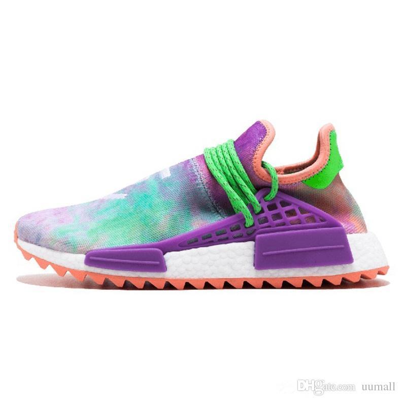 Human Race shoes Hu trail pharrell williams Running shoes Nerd black blue women men Trainers Fashion Sports Sneakers