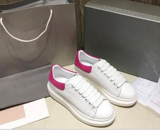 Designer di cuoio delle donne degli uomini Moda Uomo Bianco Scarpe casual di fitness in pelle scarpe comode piatto Scarpe casuali quotidiani Jogging qqwq12