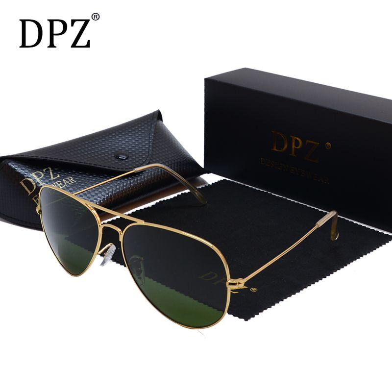 2019 DPZ классический поляризованные авиационные солнцезащитные очки женские мужские лучи 60 мм G15 объектив вождения солнцезащитные очки UV400 Gafas с футляром 3026 Y200420