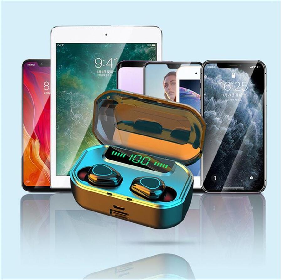 Tws Bluetooth 5.0 senza fili del trasduttore auricolare di tocco di controllo 3D Stereo Sport impermeabile auricolari della cuffia Con Charge Box # OU360